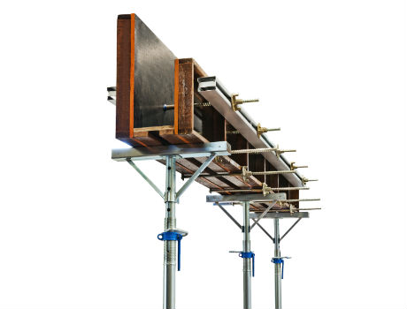 sistema de escoramento metalico de vigas bks img